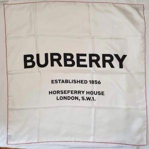 Burberry Square Silk Shawl - White